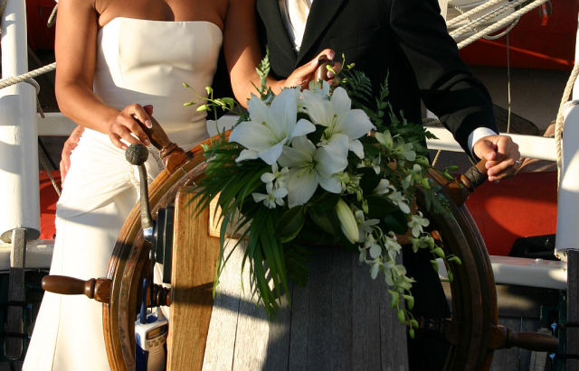 Sailing ship wedding