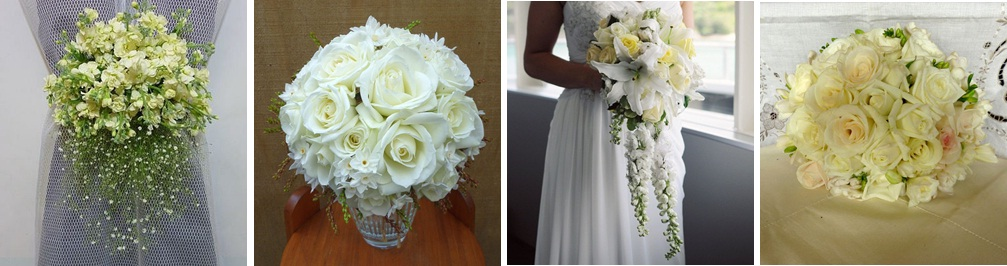 White & Ivory Wedding Bouquets