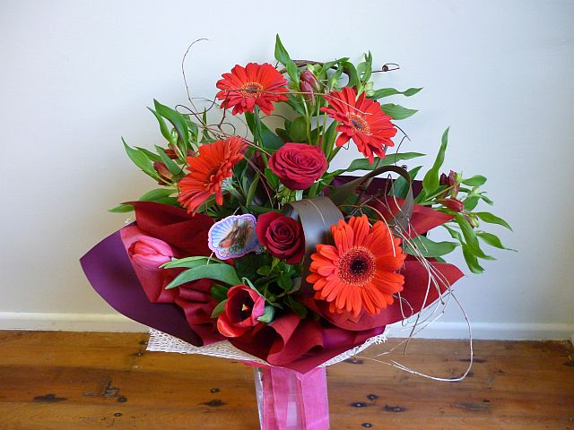 Red funky bouquet