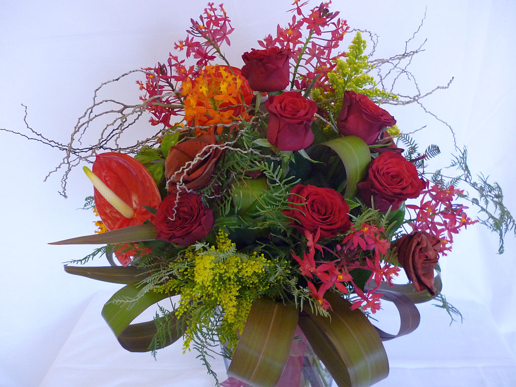 Rose wild garden bouquet